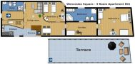 Prague Apartment Wenceslas Square - 801 pok 3 Floor plan