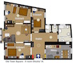 Prague Apartment Wenceslas Square - Dlouha 1A Floor plan