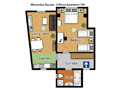 Prague Apartment Wenceslas Square - 702 pok 2 Floor plan