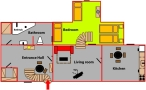 Karlova Prague Apartments - Apartment 4 - Attic Floor plan