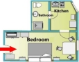 Dlouha Apartments - Studio A (1+kk) Floor plan