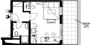 Balu Apartments - Junior Studio 618 Floor plan