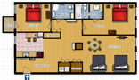 Your Apartments - Riverview Apartment 11H Floor plan