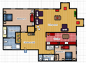 Your Apartments - Riverview Apartment 3C Floor plan